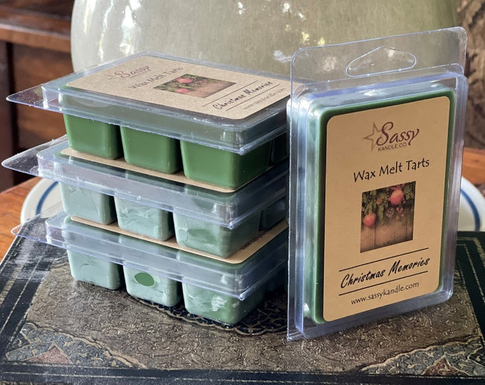 CHRISTMAS MEMORIES | Wax Melt Tart | Wax Tart | Wax Melt | Phthalate Free | Soy Blend | Sassy Kandle Co.