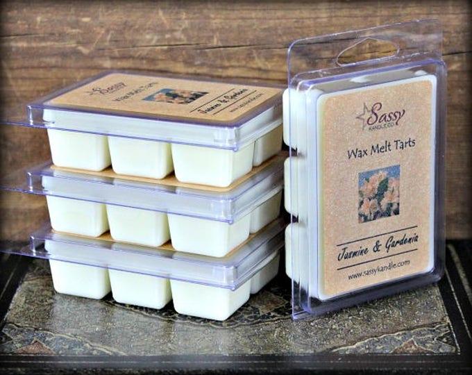 JASMINE & GARDENIA | Wax Melt Tart | Wax Tart | Wax Melt | Soy Blend | Sassy Kandle Co.