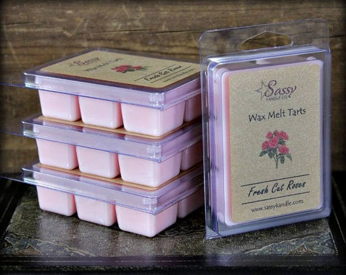 FRESH CUT ROSES | Wax Melt Tart | Wax Tart | Wax Melt | Phthalate Free | Soy Blend | Sassy Kandle Co.