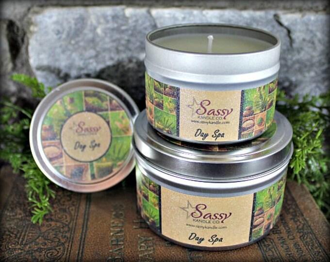 DAY SPA | Candle Tin (4 or 8 oz) | Sassy Kandle Co.
