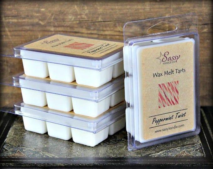 PEPPERMINT TWIST | Wax Melt Tart | Wax Tart | Wax Melt | Phthalate Free | Christmas | Soy Blend | Sassy Kandle Co.