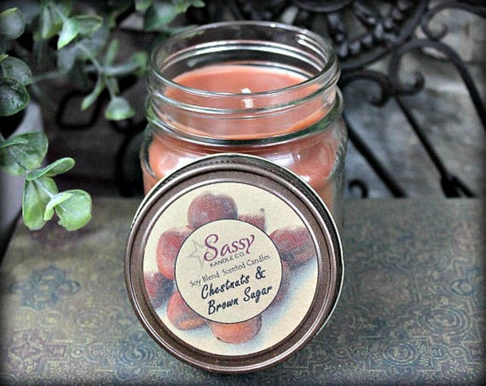 CHESTNUTS & BROWN SUGAR  | Mason Jar Candle | Sassy Kandle Co.