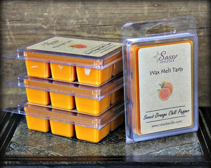 Sweet Orange Chili Pepper | Wax Melt Tart | Sassy Kandle Co.