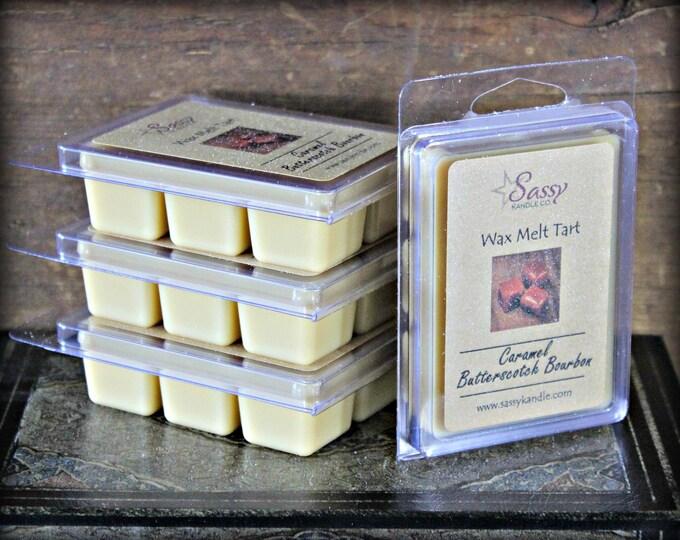CARAMEL BUTTERSCOTCH BOURBON | Wax Melt Tart | Wax Tart | Wax Melt | Phthalate Free | Soy Blend | Sassy Kandle Co.