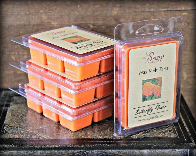 BUTTERFLY FLOWER | Wax Melt Tart | Wax Tart | Wax Melt | Pthalate Free | Soy Blend | Sassy Kandle Co.