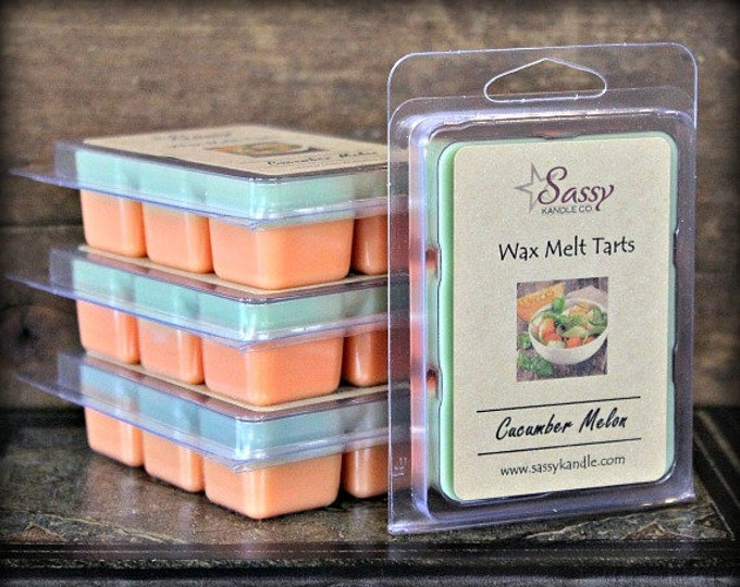 CUCUMBER MELON | Wax Melt Tart | Wax Tart | Wax Melt | Phthalate Free | Soy Blend | Sassy Kandle Co.