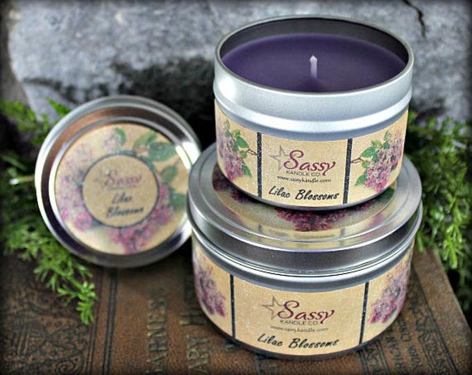 LILAC BLOSSOMS | Candle Tin (4 or 8 oz) | Sassy Kandle Co.