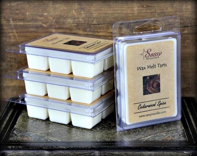 CEDARWOOD & SPICE | Wax Melt Tart | Wax Tart | Wax Melt | Phthalate Free | Soy Blend | Sassy Kandle Co.