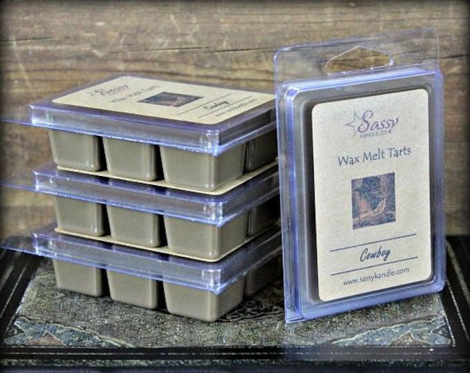 COWBOY | Wax Melt Tart | Wax Tart | Wax Melt | Soy Blend | Sassy Kandle Co.