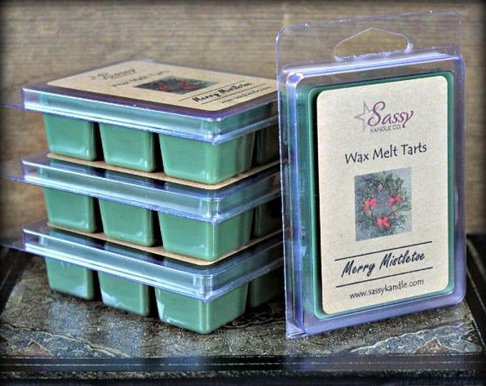MERRY MISTLETOE | Wax Melt Tart | Wax Tart | Wax Melt | Soy Blend | Sassy Kandle Co.