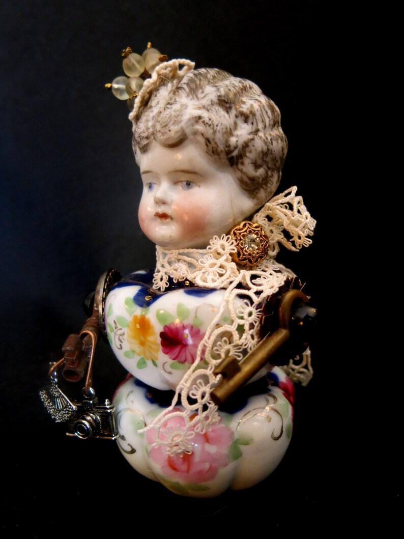China assemblage doll.  Wound up Wanda.  Antique image 0