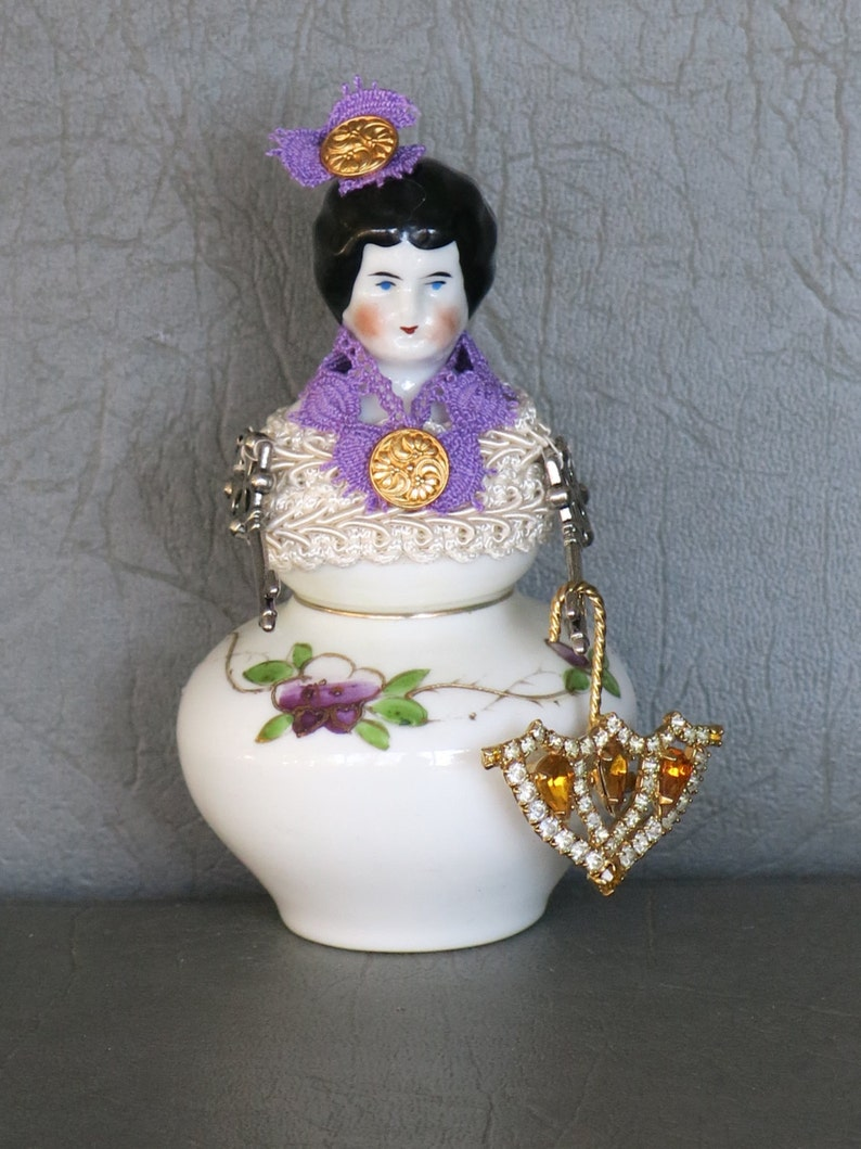 China assemblage doll.  One of a kind.  Antique china head image 0