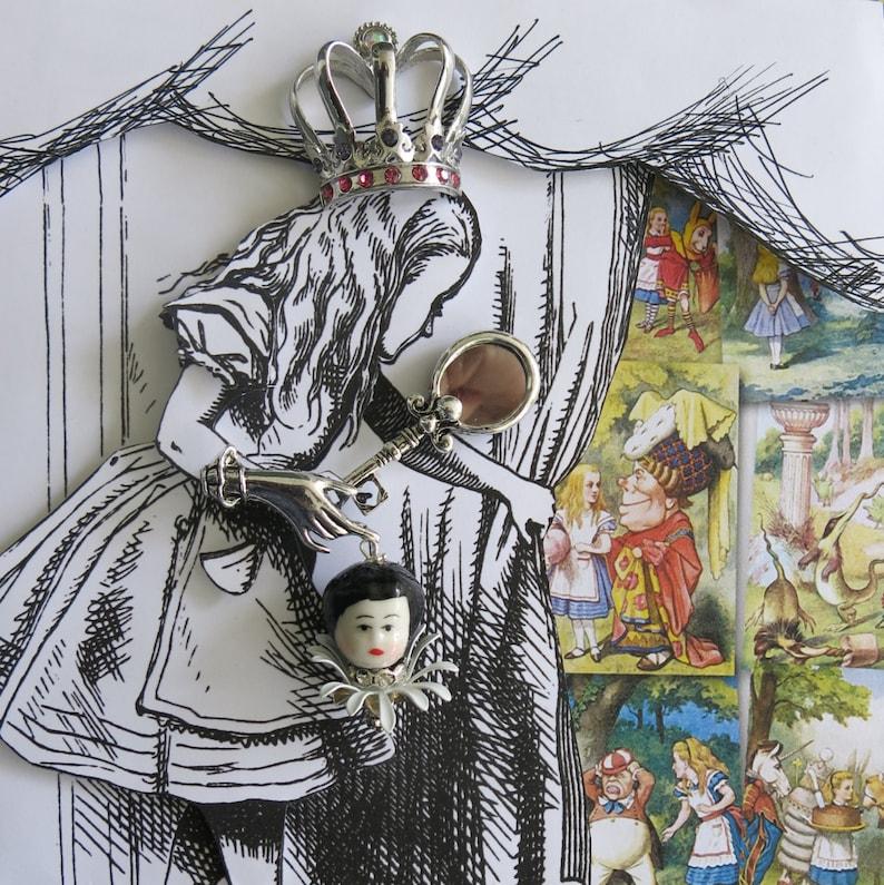 Alice in Wonderland shadow box.  3D multi-media collage I image 0