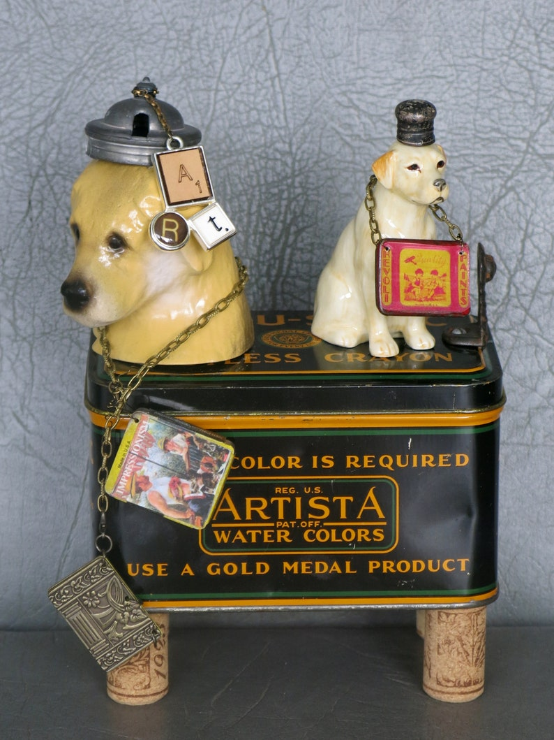 One of a kind dog assemblage Cezanne & Pissarro. image 0