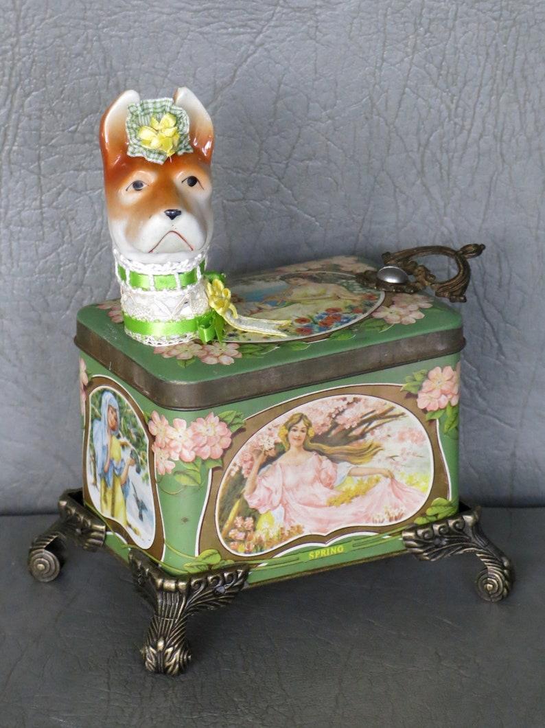 Assemblage dog.  One of a kind named Fleur. image 1