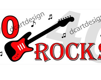 40 Rocks Banner. 40th Birthday Decorations. INSTANT DOWNLOAD.