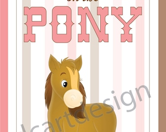 Pin the Tail Game, Cowgirl Party, Pin the Tail on the Pony, Printable Decorations, Instant Download