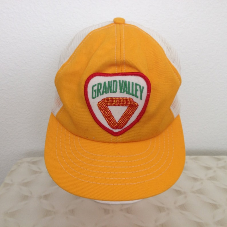 ea2e67f6 Vintage Baseball Cap Grand Valley yellow with | Etsy
