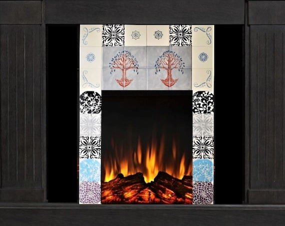 Fireplace Tile, Handmade, Custom Tile.