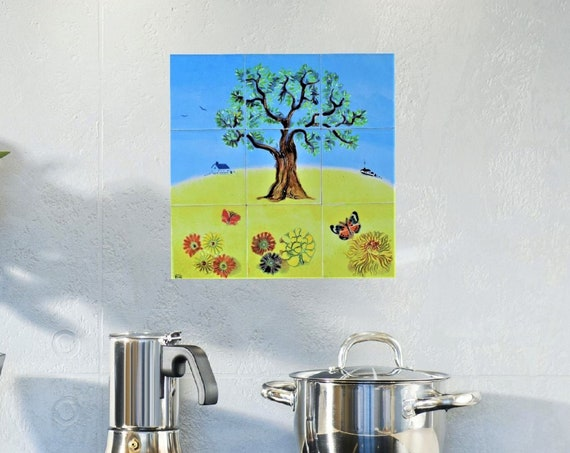 Backsplash, Splashback Tiles, Tile Mural, CUSTOM SIZES.