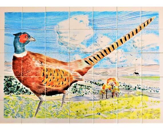 DIY Range Kitchen Backsplash Hand Painted Ceramic Tiles Mural