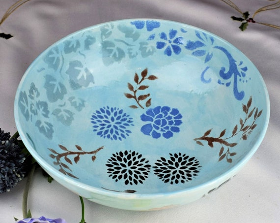 Ceramic Bowl Pottery Handmade, Fruit Bowl, Christmas, Gifts, Housewarming gift.
