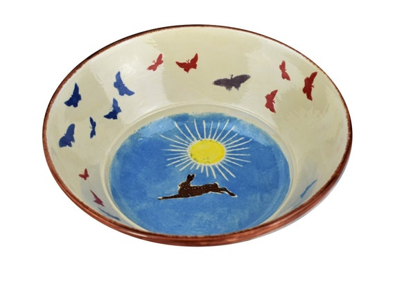 Gift Ideas Christmas Present Decorative Bowl Hand Painted Etsy