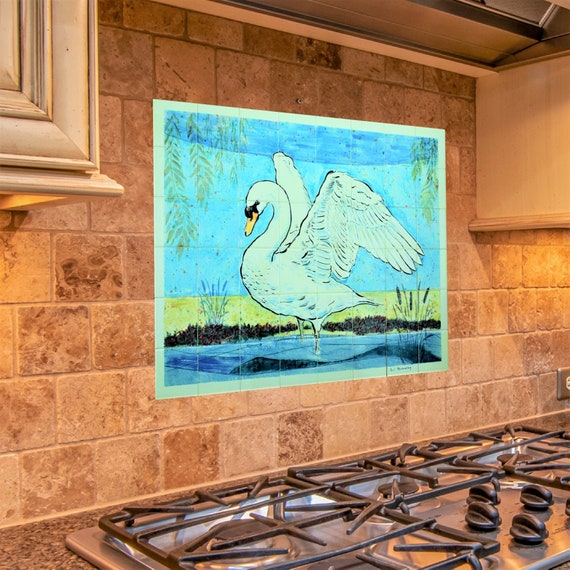 Backsplash, Hand Painted, Tile Splashback, Kitchen Backsplash Ideas.