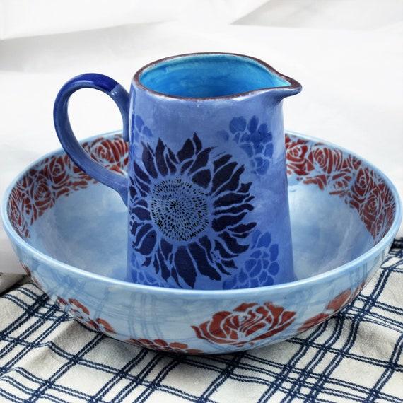 Pottery Handmade, Jug and Bowl set, Christmas, gifts, Housewarming gift.
