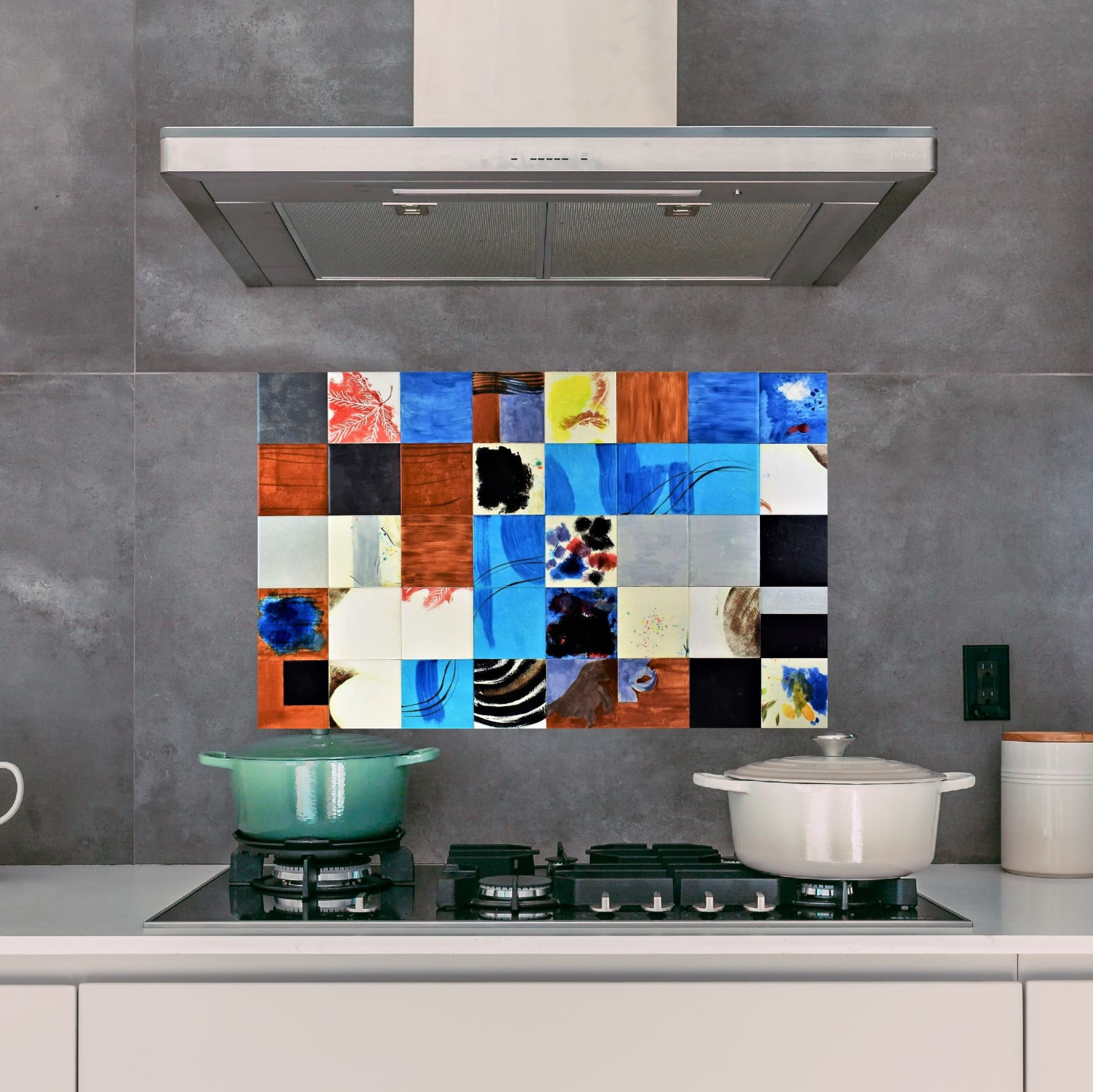 - Backsplash Tile, Hand Painted, Tile Mural