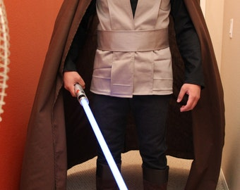Jedi Costume Cloak - Luke - Brown Cloak - Cape with Hood