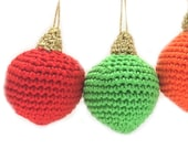 Christmas Baubles Crochet Pattern WM2058