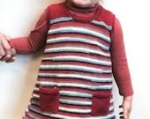 Pinafore Dress Knitting Pattern WM2023