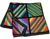Sock Wool Stripes Blanket Crochet Pattern WM2073