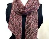Lace Mesh Scarf Knitting  Pattern WM2022