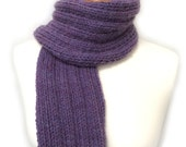 Beginner Rib Scarf Knitting Pattern WM2045