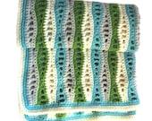 Sea Foam Baby Blanket Crochet Pattern WM2061