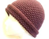Moss Stitch Hat Knitting ...