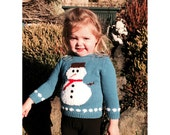 Snowman Sweater Knitting Pattern WM2016