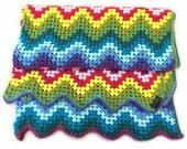Rainbow Zig Zag Granny Blanket Crochet Pattern WM2041