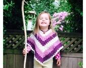Kids Basic V Poncho Crochet Pattern WM2042