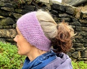 Easy Beginner Ear Warmer Knitting Pattern WM2076