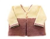 Suzie Baby Cardigan Knitting Pattern WM2044