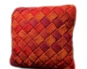 Entrelac Cushion Knitting Pattern WM2048