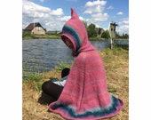 Dutch Pixie Children's Hooded Cape Knitting Pattern
