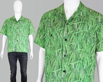 d761bdb3d8b0a Vintage 90s PAUL SMITH Shirt Short Sleeve Shirt Grass Print Shirt Digital  Print Camouflage Shirt Military Shirt Camp Cuban Collar Party Top
