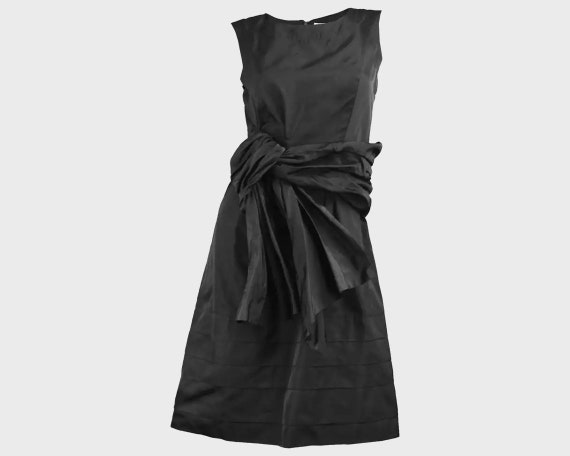 CHLOE Dress Black Silk Dress Cocktail Party Dress