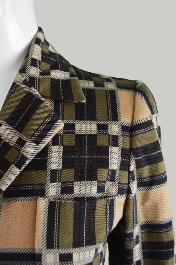 Print RIFAT XS 90s Ladies X Designer Plaid Petite Women's 2 Check OZBEK Pantsuit Pant Small Suit Checked Piece Trouser Italian Suit Vintage aX5xFfx