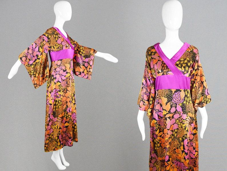 9b8d5e1df6 Vintage 70s Kimono Dress DOLLYROCKERS Dress Boho Dress Asian   Etsy