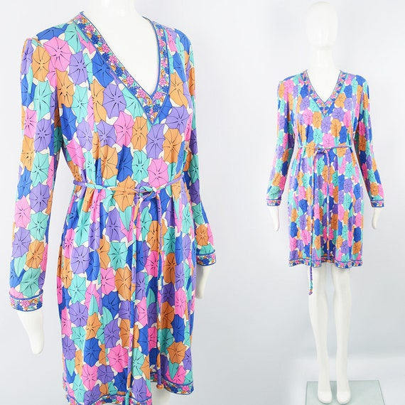 80s AVERARDO BESSI Silk Shift Dress Silk Jersey Br
